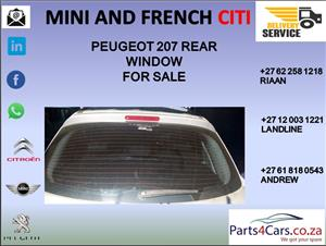 peugeot 207 rear window for sale
