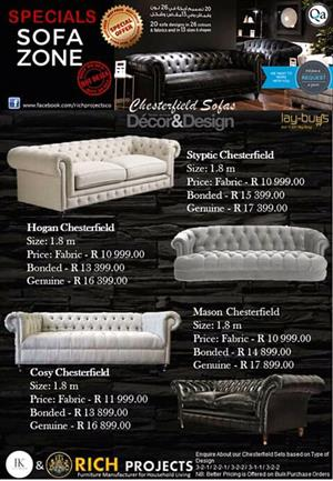 Chesterfield Sofas on a great special!