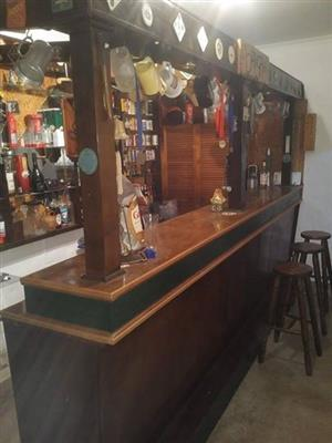 4 metre bar with stools for sale