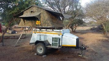 Bundu Challenger Trailer with Tent for sale