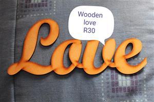 Wooden love hanger for sale