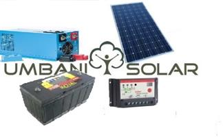 1kW Off-Grid Solar Kit 2 x 105Ah Lead Acid Batteries