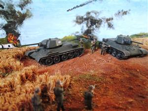 Scale model dioramas. Battle of Kursk
