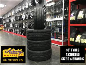 Tyres brand new 18 inch 225 40 18 from R750