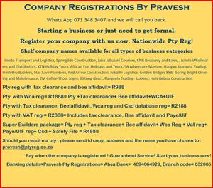 CIPC Company Registration by Pravesh