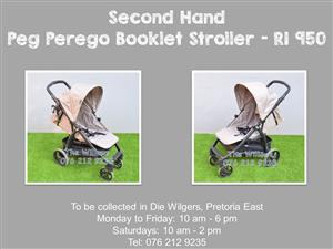 Second Hand Peg Perego Booklet Stroller
