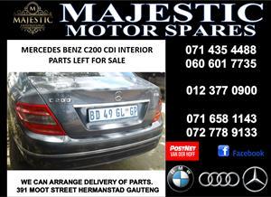 Mercedes benz C200 interior parts for sale