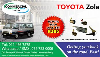 TOYOTA ZOLA LOCK SET (BARRELS)