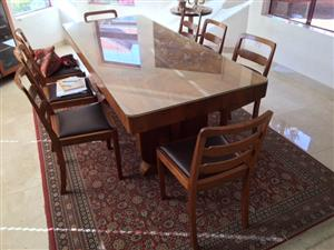 Art Deco Dining Suite plus 8 chairs