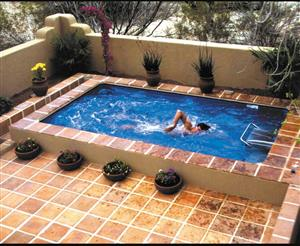 8mx4m fiberglass and marbelite pools