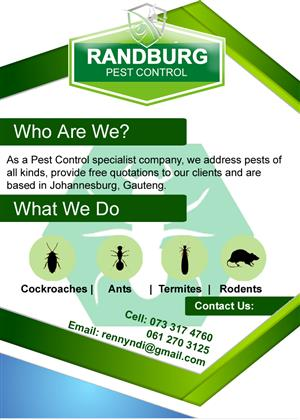 Randburg Pest Control Specialist