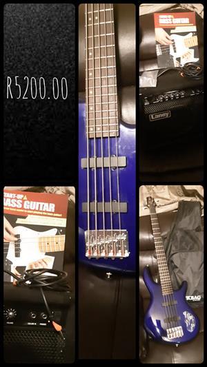 Blue startup base guitar for sale