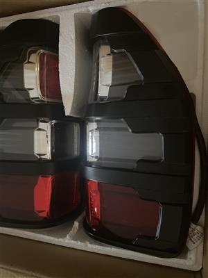 Ford Ranger 2020 rear lights with protective covers