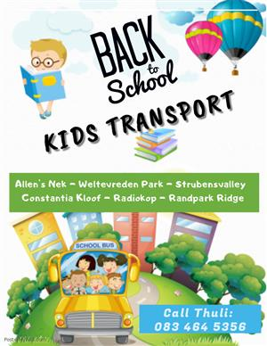 Safe Reliable Kids Transport (Mom driver)