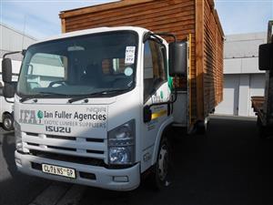 Isuzu NQR Truck - on an on-site auction