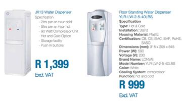Domestic water purifying system, Water coolers, water bottles and kitchen dispensers for sale