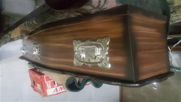 coffin new but no lining inside see photo