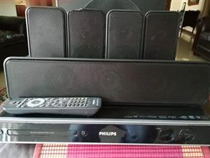 phillips dvd speler met surround sound