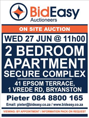 AUCTION: 2 Prime located apartments in Bryanston, Johannesburg