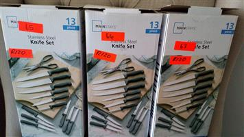 Stainless steel knife sets for sale