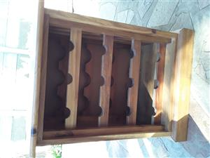 Ouhout Blackwood 12 bottle wine rack