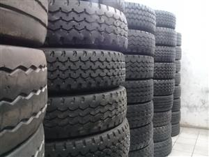 SECOND HAND TRUCK TYRES,GOOD DSICOUNTS OFFERED,GUARANTEED