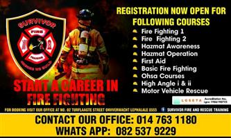 Fire fighting and first aid