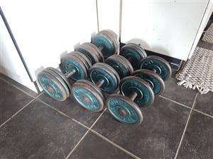 Gym Equipment Weight Plates Dumbells 112kg