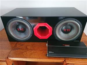 2x 15inch XTC subs and Energy Audio Amplifier with cables