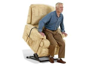 Rise Recliner - Restwell - Chicago - Beige and Terracotta, On Sale! While Stocks Last.