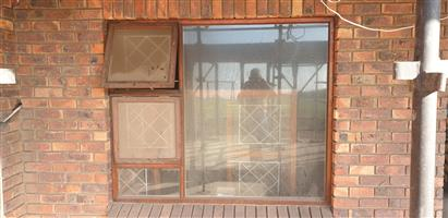 Windows wooden second hand with glass and burglar guards