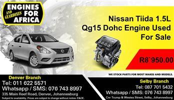 Nissan Tiida 1.5L Qg15 16v Dohc Engine For Sale