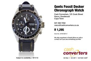 Gents Fossil Decker Chronograph Watch