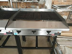 Gas Griller on stand