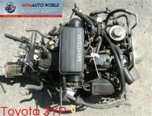 Imported used  TOYOTA HILUX/HIACE 2.0L 3YP MANUAL engine Complete