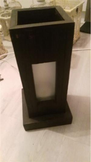 Dark Wood Lamp
