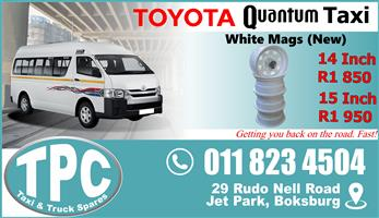 Toyota Quantum White Rims - New - Quality Replacement Taxi Spare Parts.
