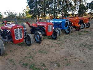 Tractors   Refreshed  with guarantee.  From R59,000