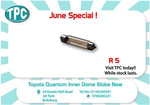 Toyota Quantum Inner Dome Globe New for Sale at TPC