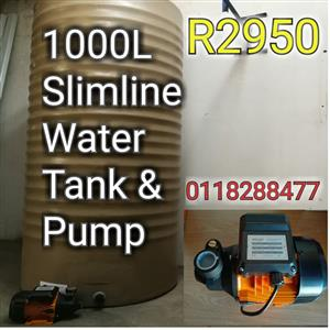 Water harvesting System ( New ttank and pump)