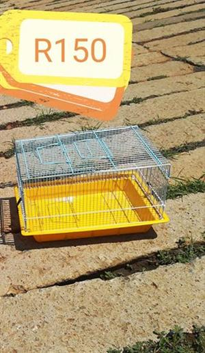 Yellow hamster cage
