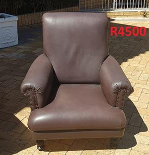 Oxblood Antique Wingback with studs for sale