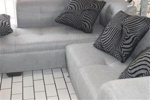 L-shape couch S036639A #Rosettenvillepawnshop