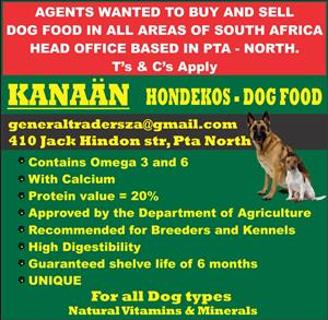 agents wanted to buy and re sell dog food