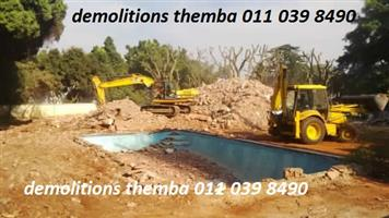 We Demolish Buildings, Structures, Walls, Flats, Swimming pools Rubble removal