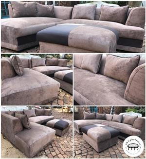 New L-Shape Couch & Matching Ottoman