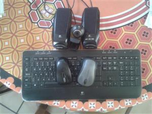 Cordless keyboard, mouse, speakers, cam. (LOGITECH)