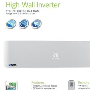 York 9000btu Inverter Mid-wall unit fi