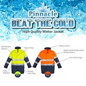 Pinnacle Winter Work Reflective Jackets now on Special for Winter