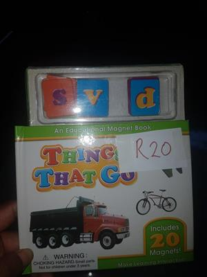 Educational magnet book